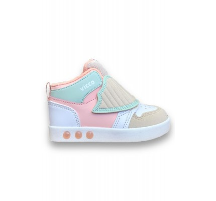 Vicco Ufo Kız Çocuk Pudra Işıklı Sneakers
