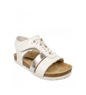905.p20y.083 Patik Deri Beyaz Çocuk Sandalet