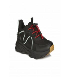 Baxi Unisex Genç Siyah Sneaker