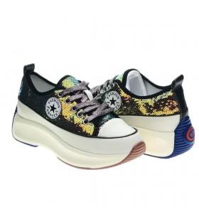 Guja 20Y315-Pul Desenli Siyah Kadın Sneaker
