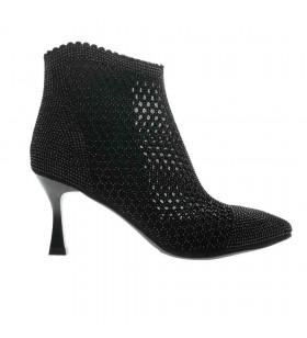 Guja Siyah Taş İşlemeli Kadın Topuklu Ayakkabı 20K354-4