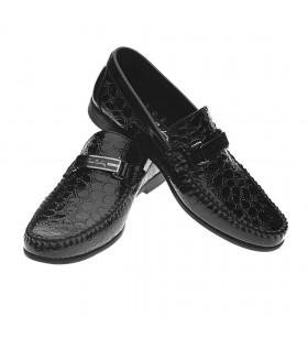 Pierre Cardin 2532 Siyah Rugan Krok Desenli Erkek Ayakkabı