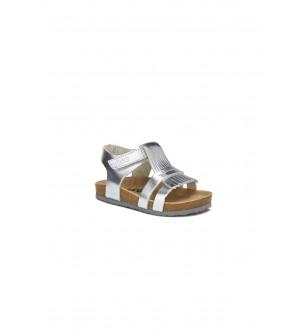 Venüs Deri Sandalet Gümüş