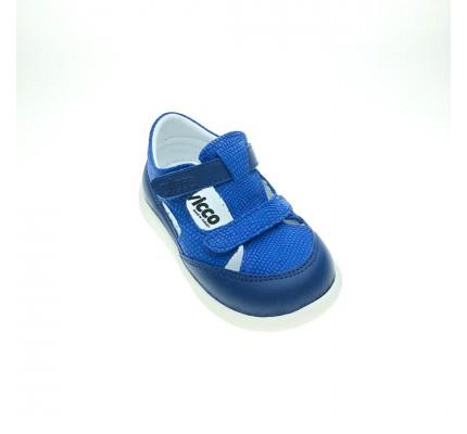 Vicco Polo İlk Adım Deri Bebe Ayakkabı Saks Mavi